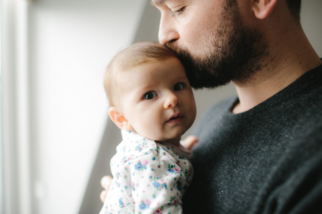 Father and baby daughter in South West London