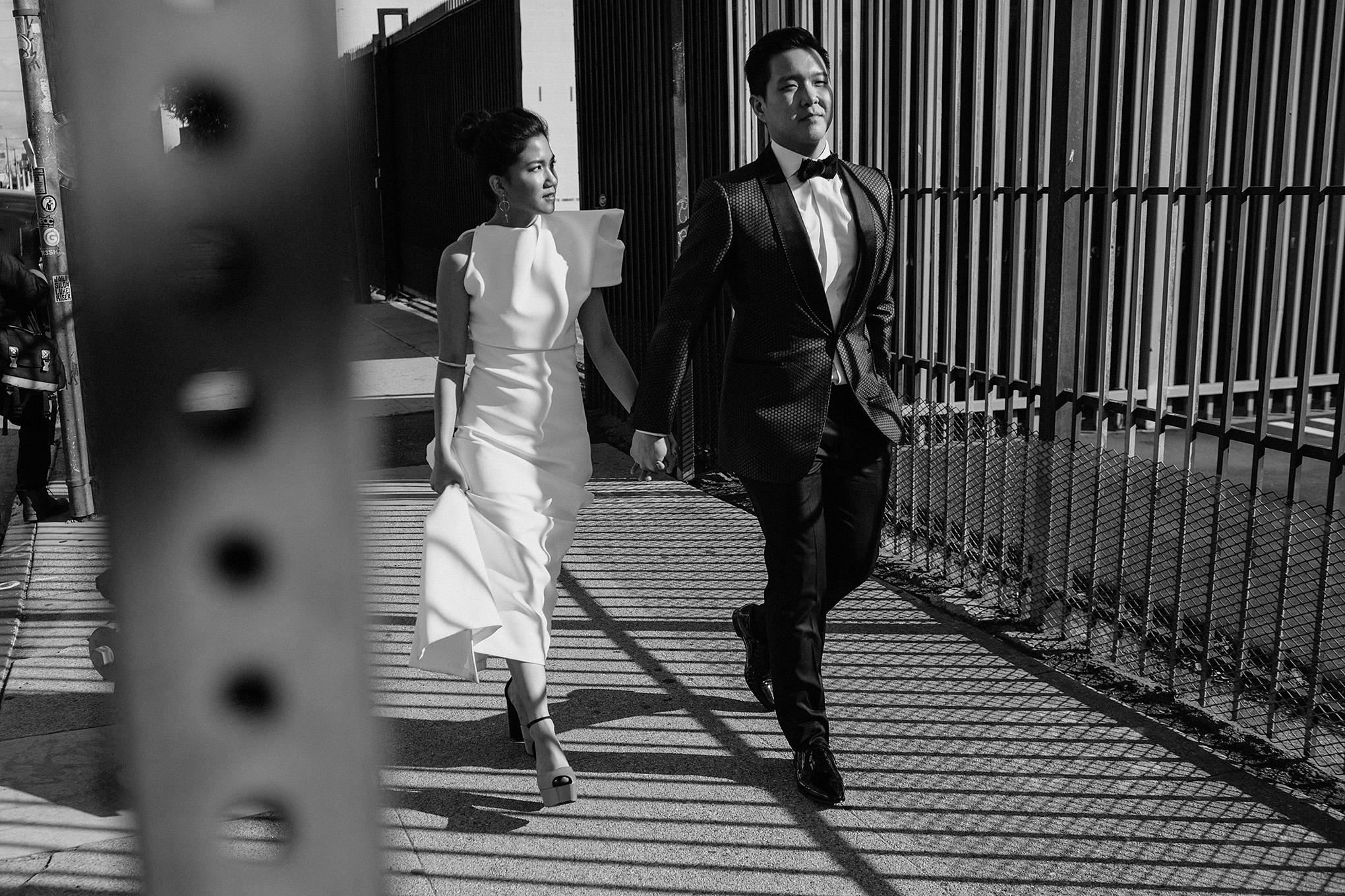 bride and groom portraits in LA