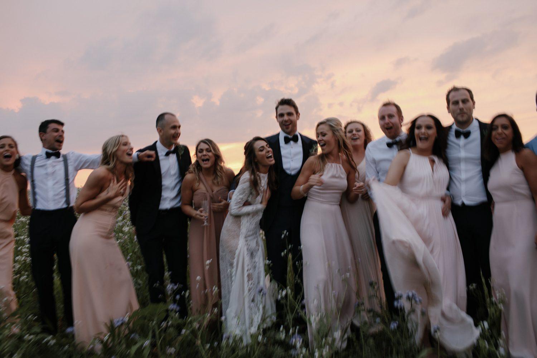 bride wearing a berta wedding dress in London