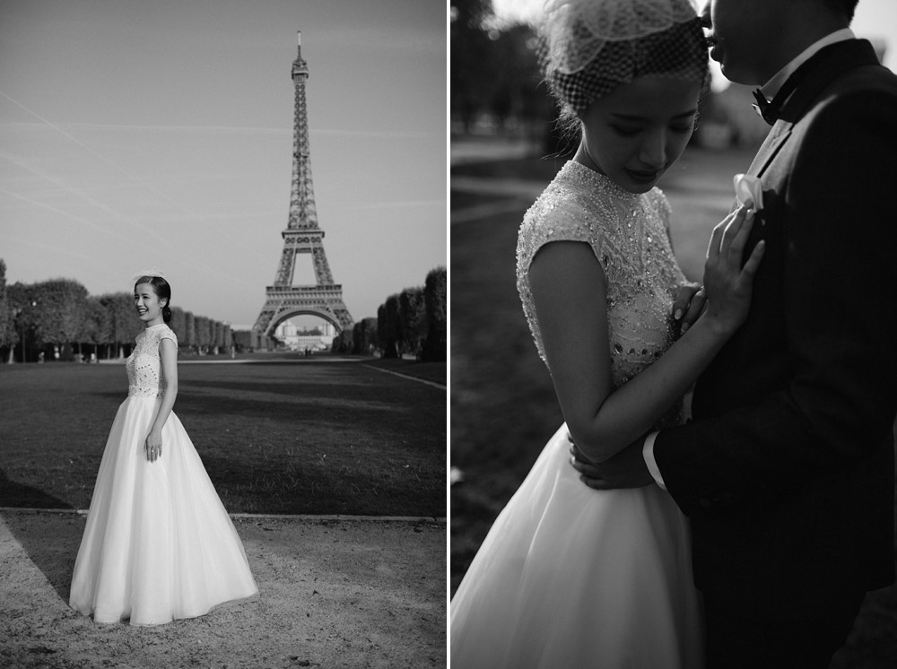 couple portrait session near eiffel tower
