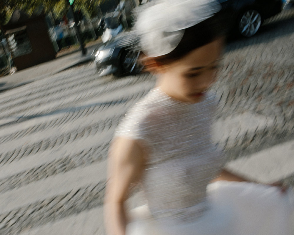 portrait of a bride in Paris