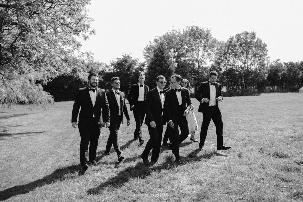 groomsmen black tie