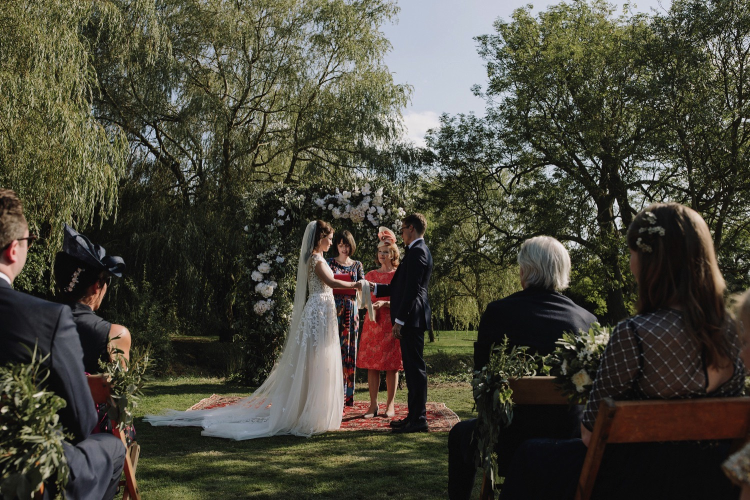 outdoor wedding ceremony countryside